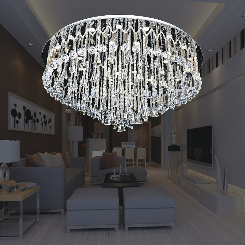 Modern Swag Crystal Ball Ceiling Lights Lamps
