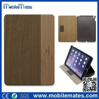 High Quality Kajsa Wooden Pattern PC+PU Leather Case for iPad Air 2 / iPad 6, Flip Stand Leather Case for iPad Air 2 / iPad 6