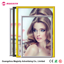 High quality black gold aluminum extrusion snap frame wood 2x2 picture aluminium cardboard digital photo frames for sign board