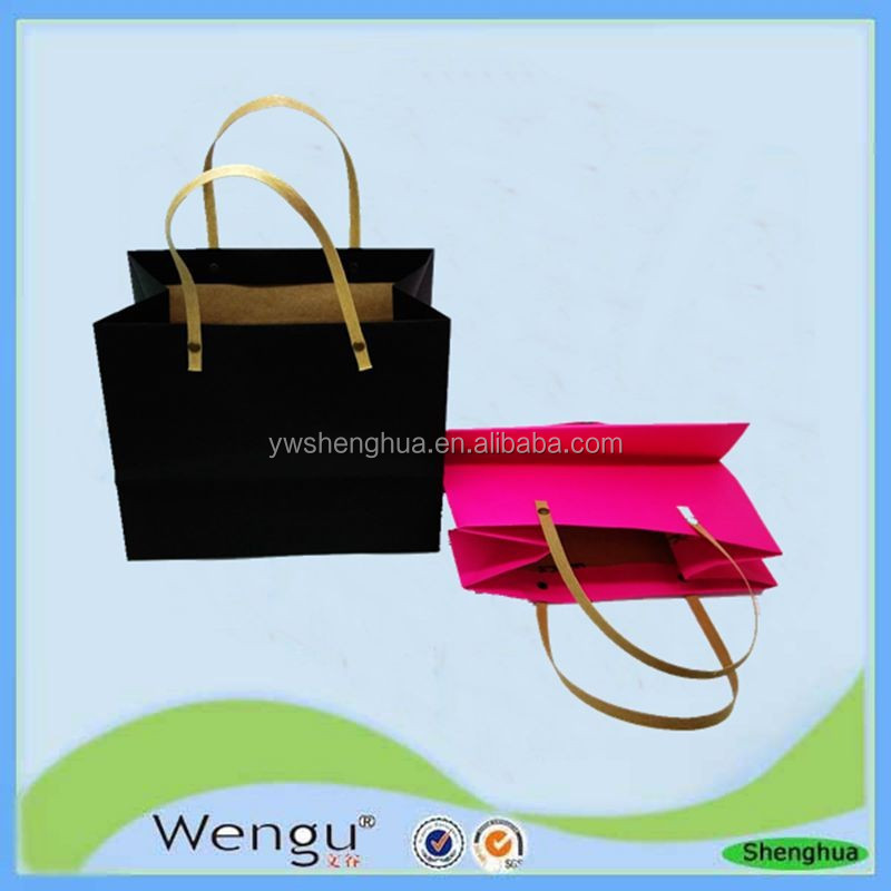 2015 New Fancy custom printed kraft paper bags with paper handle manufactures and suppliers