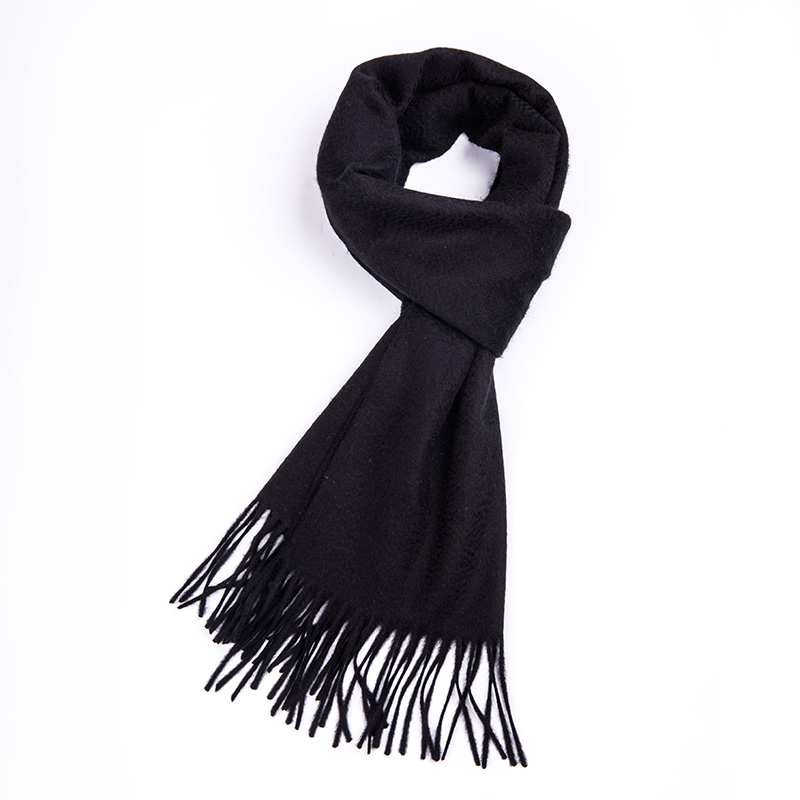 All Black Color 100% Cashmere Scarf For Men