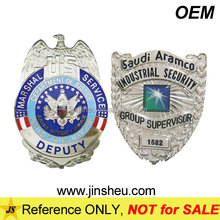 Custom Made Quality Deluxe Officer Shield Security Guard Metal Badge