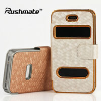 Gold Silver Wallet Leather Cover Case Pouch For Apple iphone 4G 4S