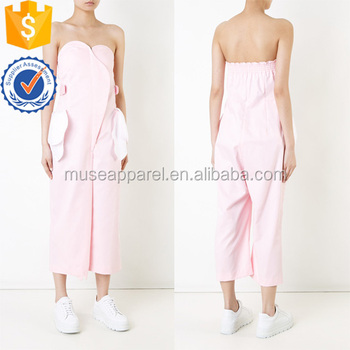 Loose Cute Pink & White Strapless Cropped Length Summer Jumpsuit Women Apparel Wholesaler China Alibaba