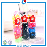 Various candy color elastic band hair extensions wholesale