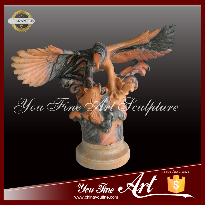 Nutural Carved Garden Decoration Eagle Sculpture