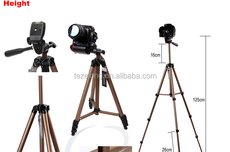 Easy carry Portable Flexible Camera Tripod Weifeng WT-3130 Tripod and Support Camera Accessories Built-in bubble level