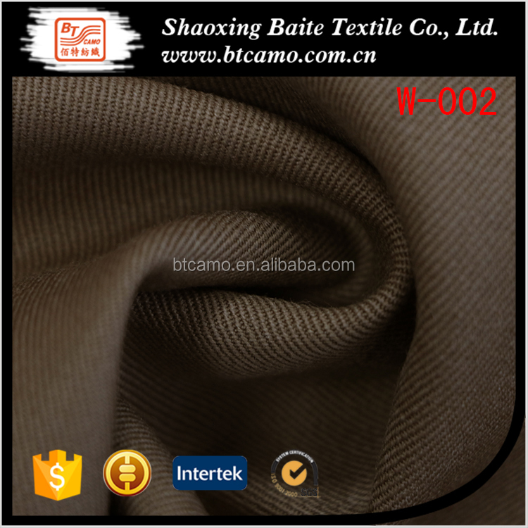 100% wool yarn gabardine fabric for suit men W-002