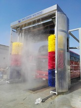 Automatic bus washer truck wash with galvanizing material