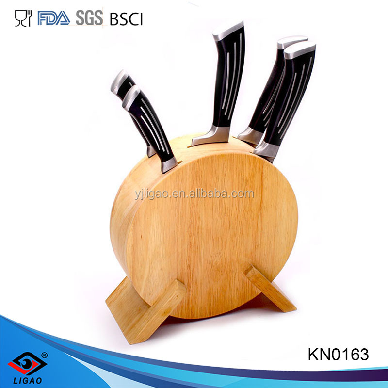 high grade stainless steel knives,metal knife with wooden block