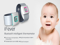 Children iFever intelligent wearable electronic thermometer Bluetooth smart baby monitor household thermometer Remote