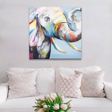 Handmade Home DecorativeThick Texture Abstract Elephant Oil Painting on Canvas