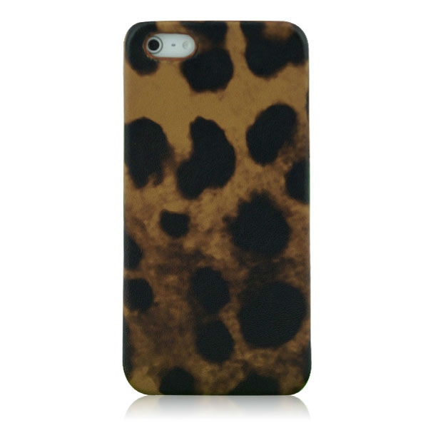 Leopard genuine leather case for iphone 5