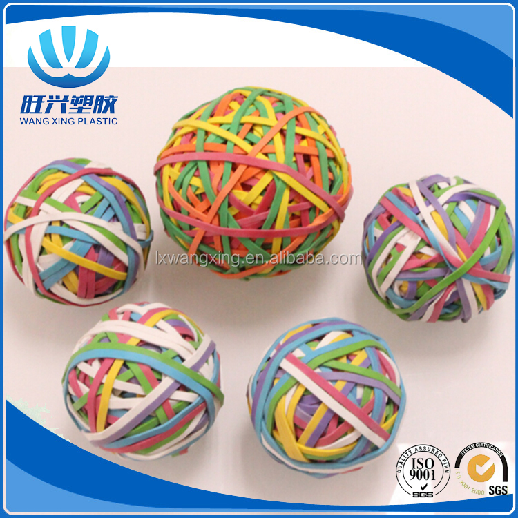 Hot selling colorful elastic rubber band bouncing ball for office