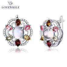 Latest design tourmaline handmade daily wear stud 925 sterling silver earrings