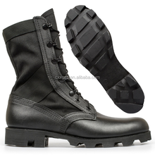 High Quality Black Color Leather Military Army Combat Tactical Jungle Boots