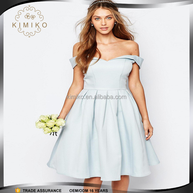 Wholesale Price Alibaba Hot Sale Fashion Ladies Off Shoulder Bridesmaid Dresses