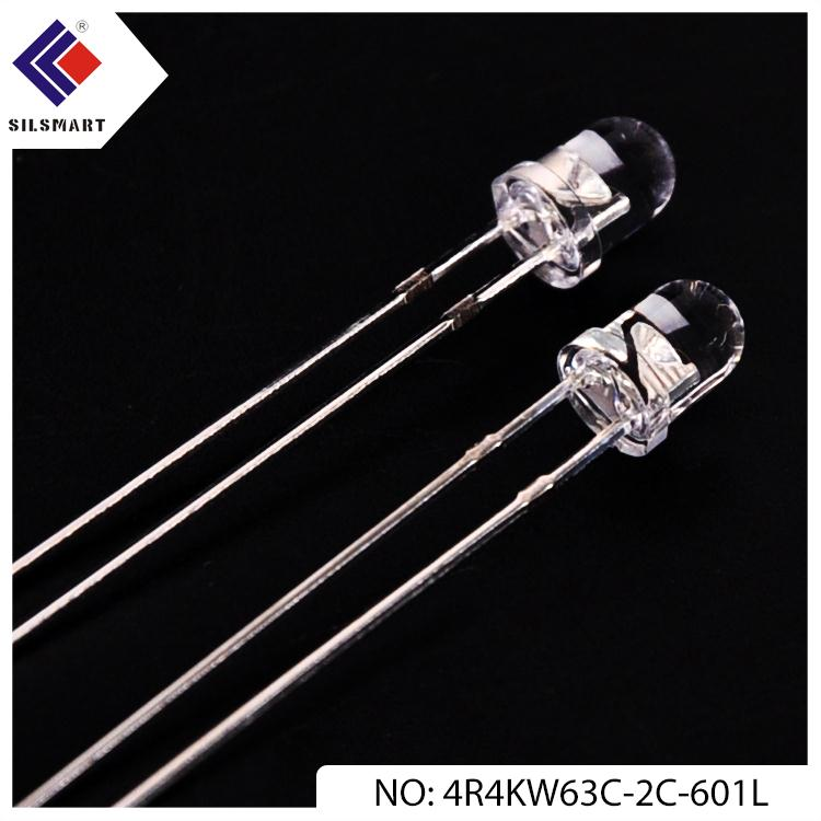 8mm yellow 5mm flat top diode THT led for digital indicators
