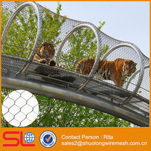 Zoo Enclosure Stainless Steel Rope Netting / Cabe Net