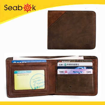 Genuine leather men wallet Guangzhou factory