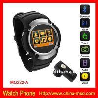 MQ222 Smart watch phone Quad band touch screen Black HOT item