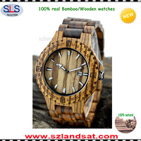 2017 wholesale quality assurance custom mens and womens bamboo wood wrist watches manufacturer dropshipping accepted SLS-BW23B