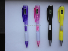 Promotional gift watch pen/cheap digital clock pen