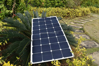 flexible solar panel/ sunpower back contact solar panel 100w/ for RV, Marine, Caravan