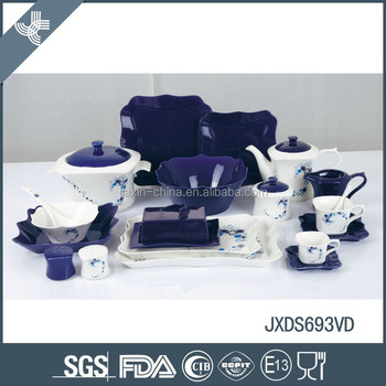 New design porcelain latest dinner set with popular design