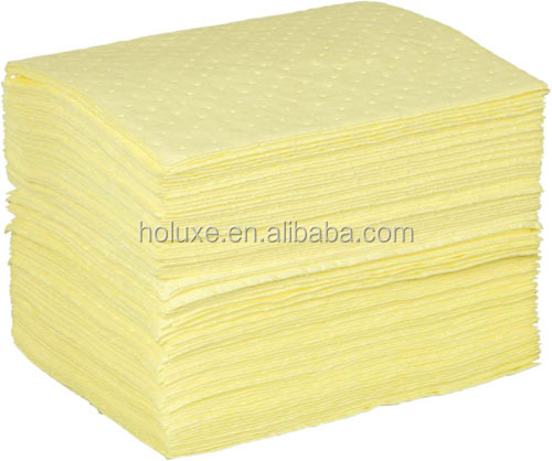 Chemical absorbent pads for workplace