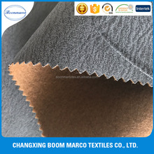 waterproof polyester suede fabric bonded with non woven for sofa fabric