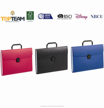 PP solid color document expanding file with handle for student and office people