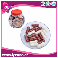 Bottled packing halal chocolate peanut shape arabic chewing gum