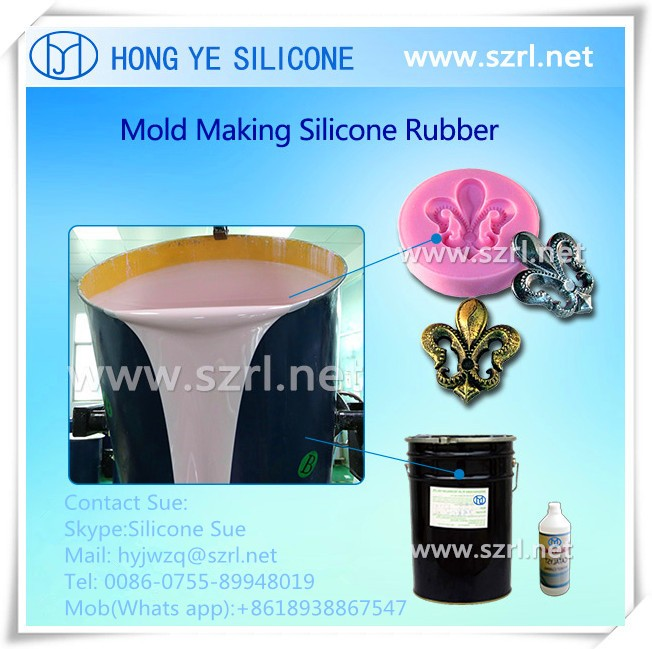Condensation cure silicone mold making rubber