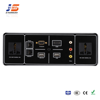 JS-T101+ VGA+3.5mm audio+rj45+HDMI+3RCA+USB Desktop Electrical Socket Outlet