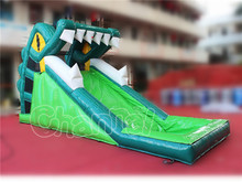 Dragon cartoon inflatable water slides for promotion