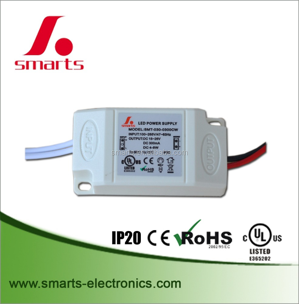 UL approved led driver 280ma 9w mini size led bulb power supply