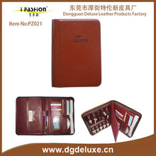 A4/A5/A6 original leather Business portfolio with 15 key holders for Real estate gift