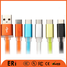 Fast charging high speed multy color flat jelly type usb data cable for mobile phone wire