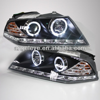Skoda Octavia LED Angel Eyes Headlight with Projector Lens 2007-2010 Year