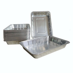 factory price food use aluminum foil material Custom Disposable Rectangular Aluminum Foil Food Takeaway Container with paper lid
