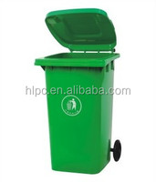 240 liter pure HDPE dustbin rectangular rubbish bin warehouse bins plastic attached-lid storage containers