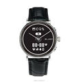 E-ink display analog and digital smart watch with traditional quartz movement can do heart rate monitor and pedometer