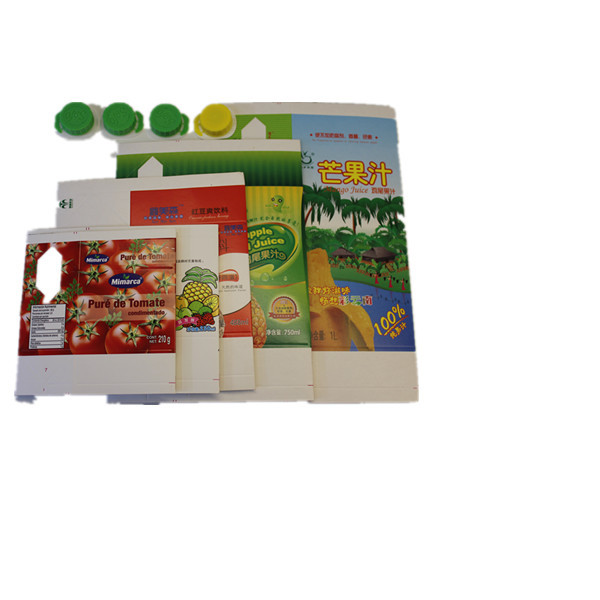 Juice and milk Aseptic brick-type paper boxes