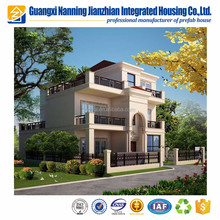 Prefabricated steel structure luxury prefabricated frame hotel house building