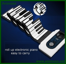 Wholesale 88 Keys Roll up Electronic Piano Keyboard Hand Rolled Musical Instrument