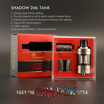 Teslacigs Tank Shadow comes with 2ml capacity