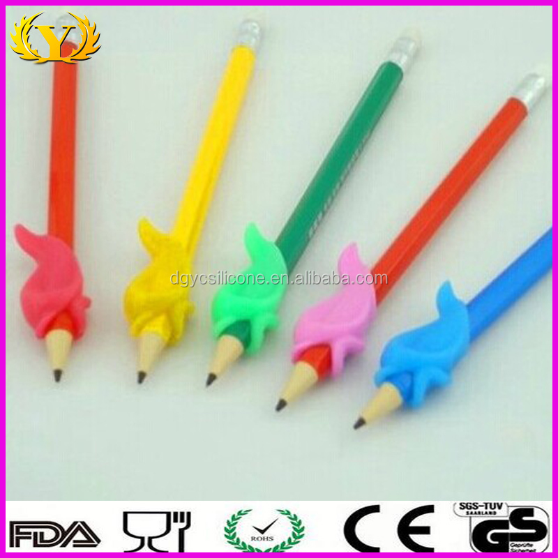 Eco-friendly custom silicone pen cover for student