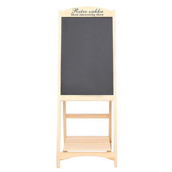 Natural Pine Wood Flower Stand Art Bulletin Board Wooden Chalkboard Used in Coffee House or Shop