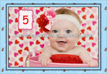 2014 baby cute red color infant peal flower hair bands hairband lace soft headband